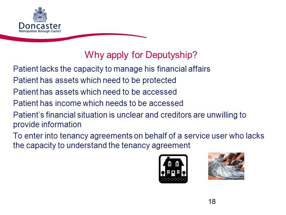 Why apply for Deputyship.
