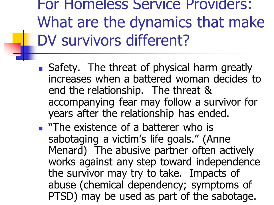 Where does domestic violence fit in a Ten Year Plan to End Homelessness.
