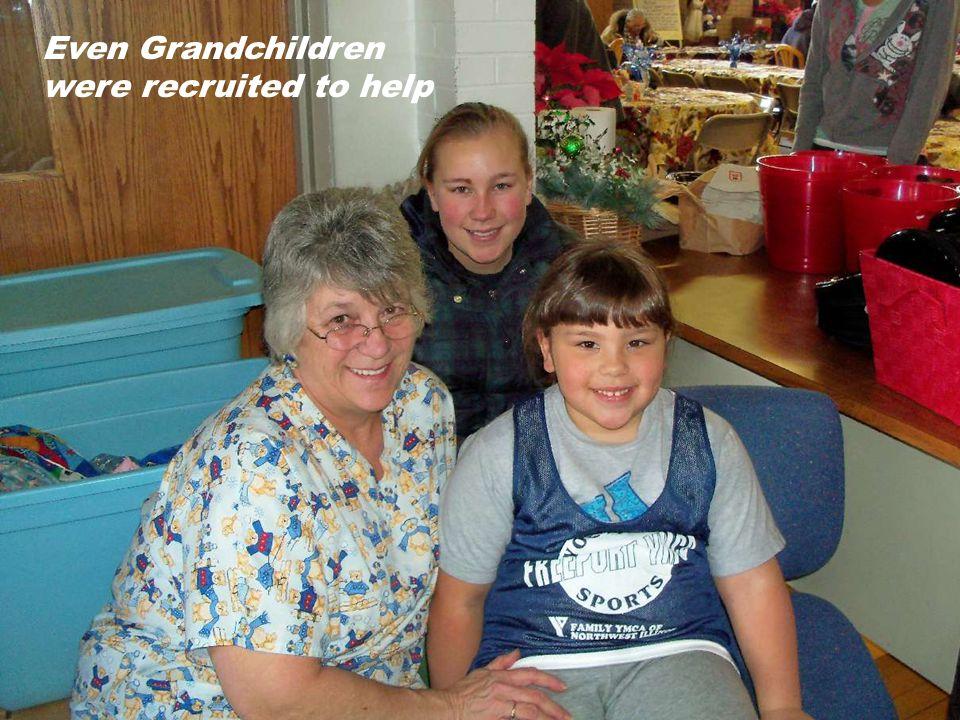 Even Grandchildren were recruited to help