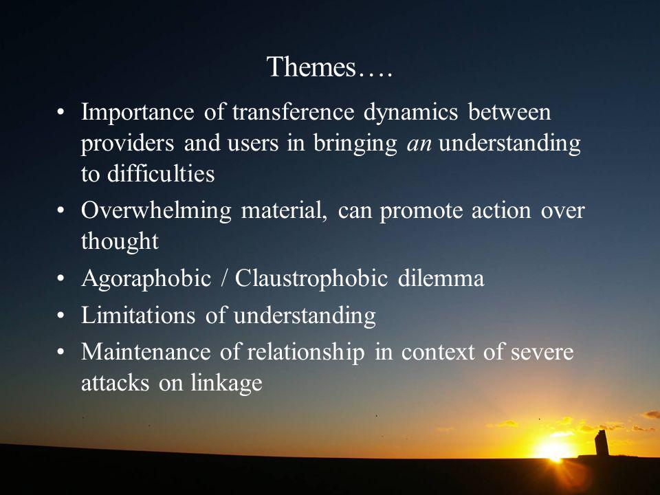 Themes….