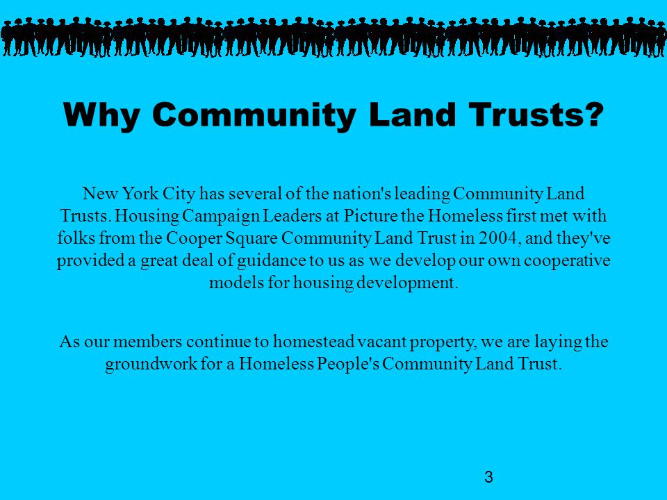 3 Why Community Land Trusts.