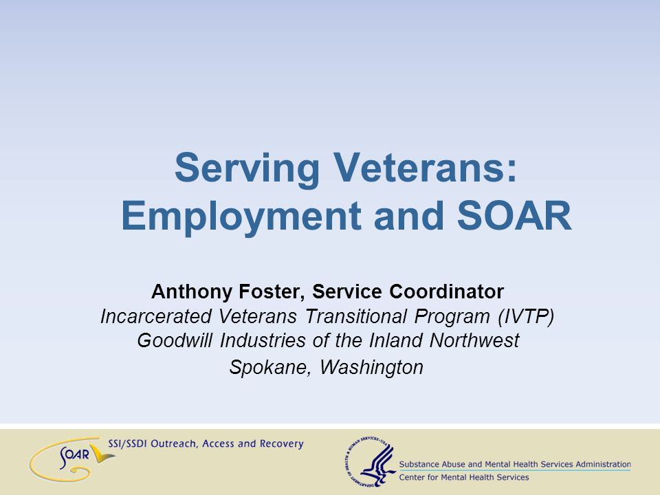 For veterans who have any discharge other than dishonorable Veteran must have been incarcerated within the past 6 months Veteran must be homeless, unemployed, and have a STRONG desire to obtain employment Incarcerated Veterans Transition Program (IVTP)