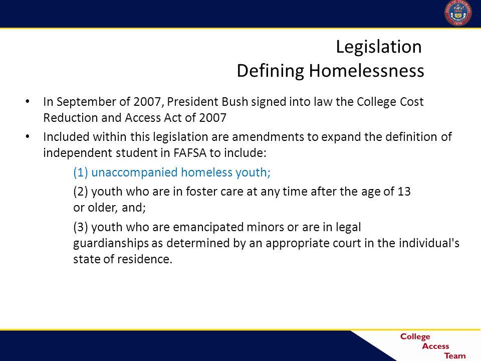 Who are Unaccompanied Homeless Youth.