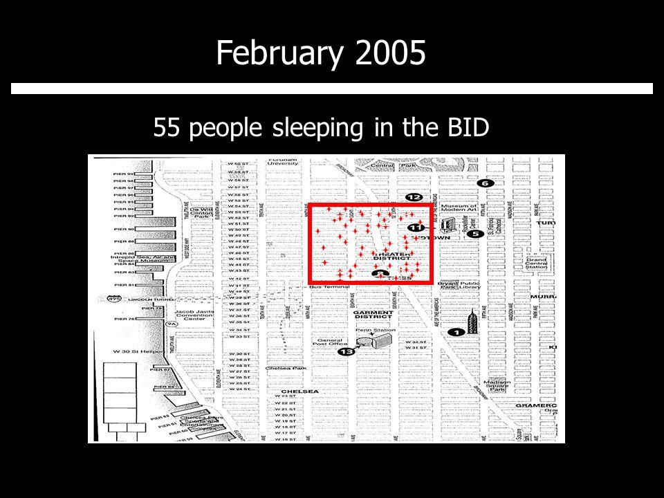 February 2007 7 people sleeping in the BID