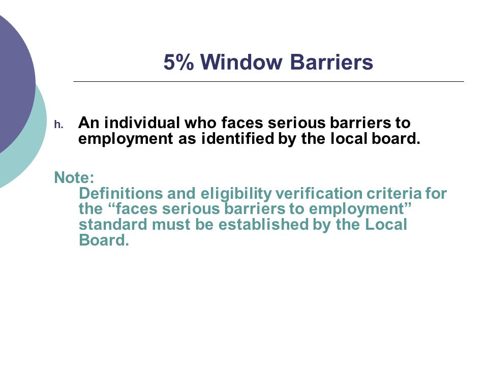 5% Window Barriers h.