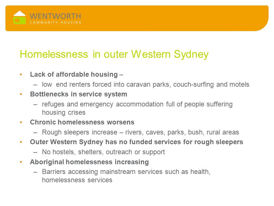Elements of the Project 40 support model Flexible approach to support - home visits and outreach Holistic approach includes person's emotional/ spiritual wellbeing Social integration – overcoming loneliness Culturally responsive through Aboriginal specialists Opportunity for consumer participation & empowerment (CHA CHEE) Peer support Low caseloads of workers