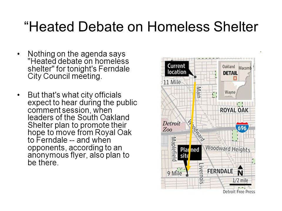 """""""Heated Debate on Homeless Shelter Nothing on the agenda says"""