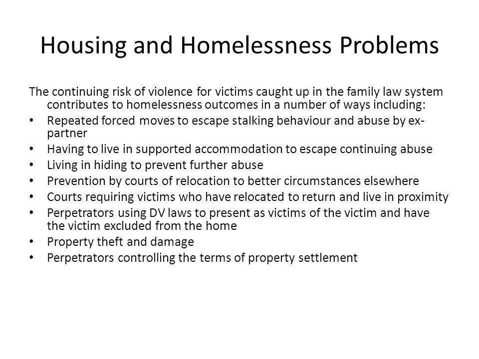 Data from adult online survey Survey Question: Has violence had an impact on your post- separation parenting arrangements.