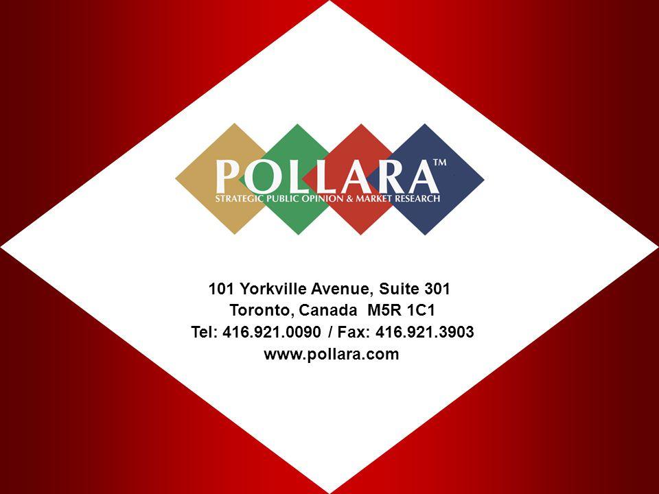 101 Yorkville Avenue, Suite 301 Toronto, Canada M5R 1C1 Tel: 416.921.0090 / Fax: 416.921.3903 www.pollara.com.