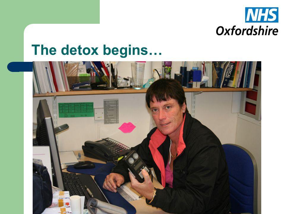 The detox begins…