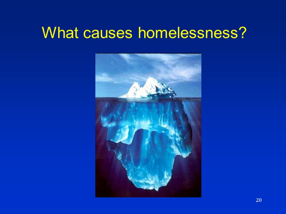 20 What causes homelessness?