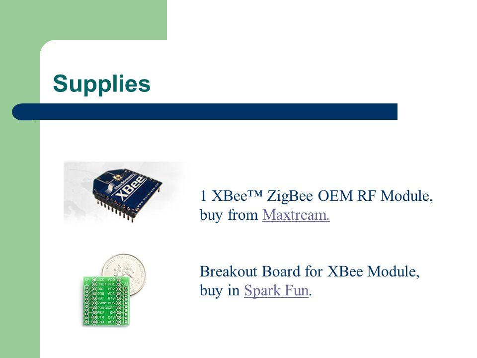 Supplies 1 XBee™ ZigBee OEM RF Module, buy from Maxtream.Maxtream.