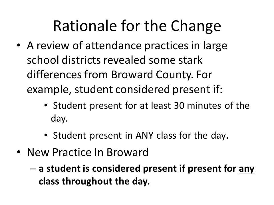 Things to Remember Pinnacle will only count the student as absent if marked absent by every teacher that day.