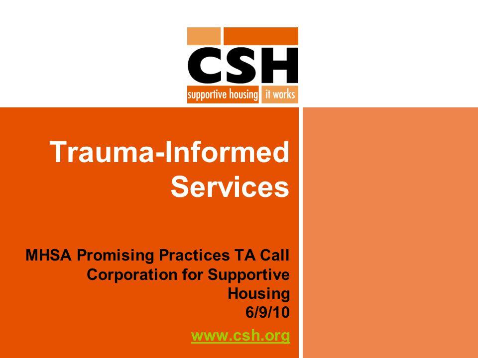 Principles of Trauma-Informed Care