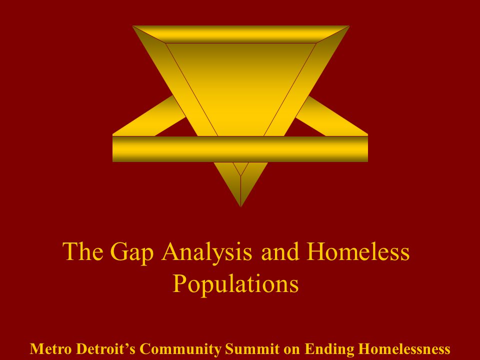 The Gap Analysis and Homeless Populations Metro Detroit's Community Summit on Ending Homelessness