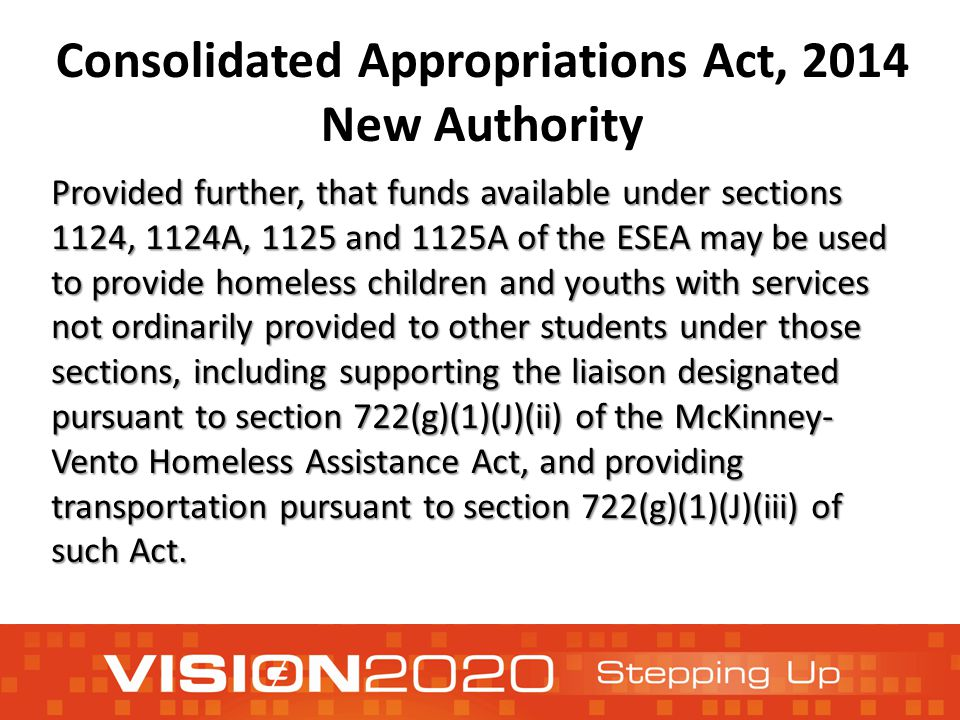 Consolidated Appropriations Act, 2014 New Authority Provided further, that funds available under sections 1124, 1124A, 1125 and 1125A of the ESEA may