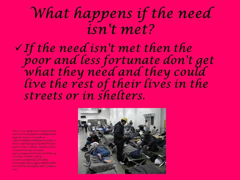 What happens if the need isn t met.