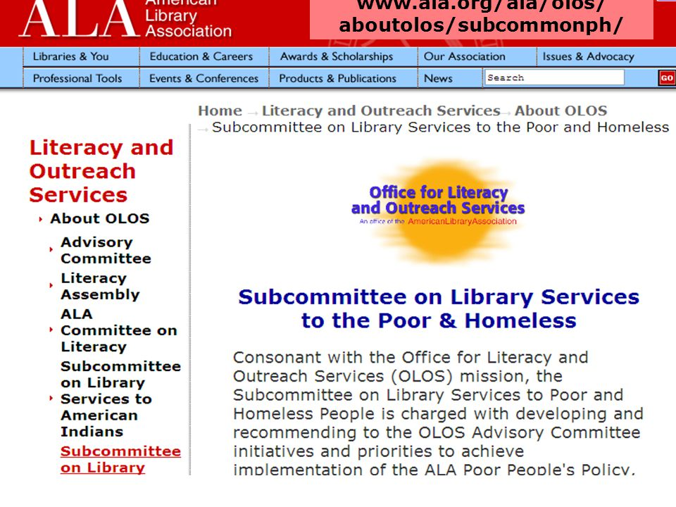 www.ala.org/ala/olos/ aboutolos/subcommonph/
