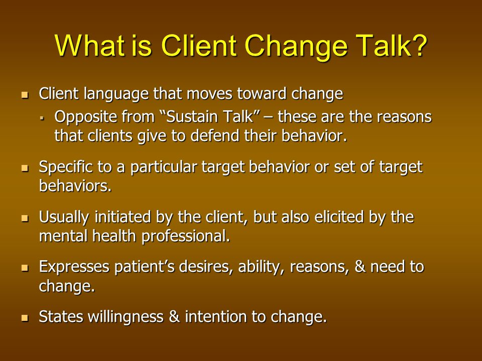 What is Client Change Talk.
