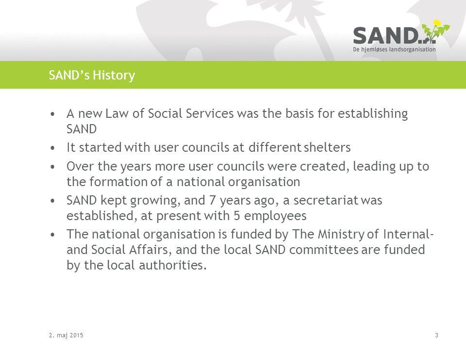 SAND's organisation 2.