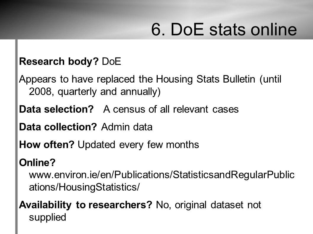 6. DoE stats online Research body.