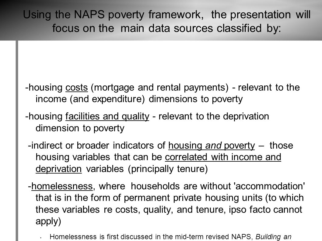 EXCURSUS #1 SOCIAL HOUSING AS A (TENURE-BASED) INDICATOR OF POVERTY?