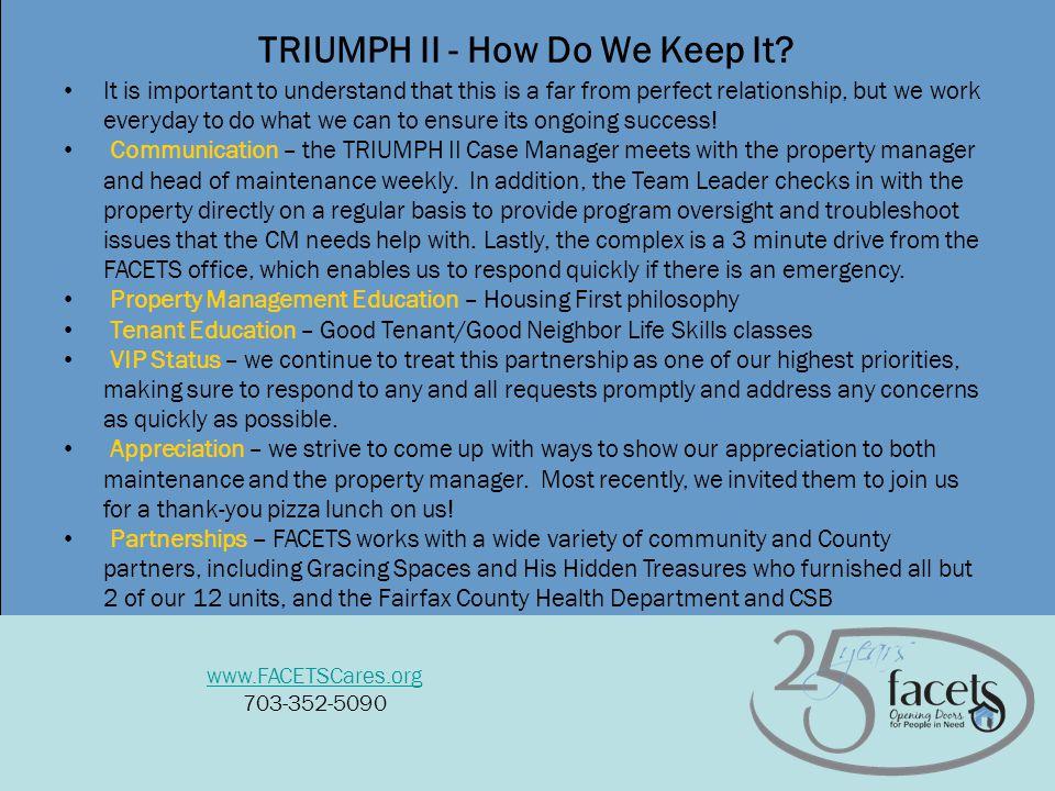 8 TRIUMPH II - How Do We Keep It.