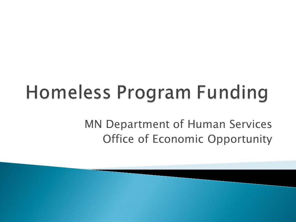 MN Department of Human Services Office of Economic Opportunity