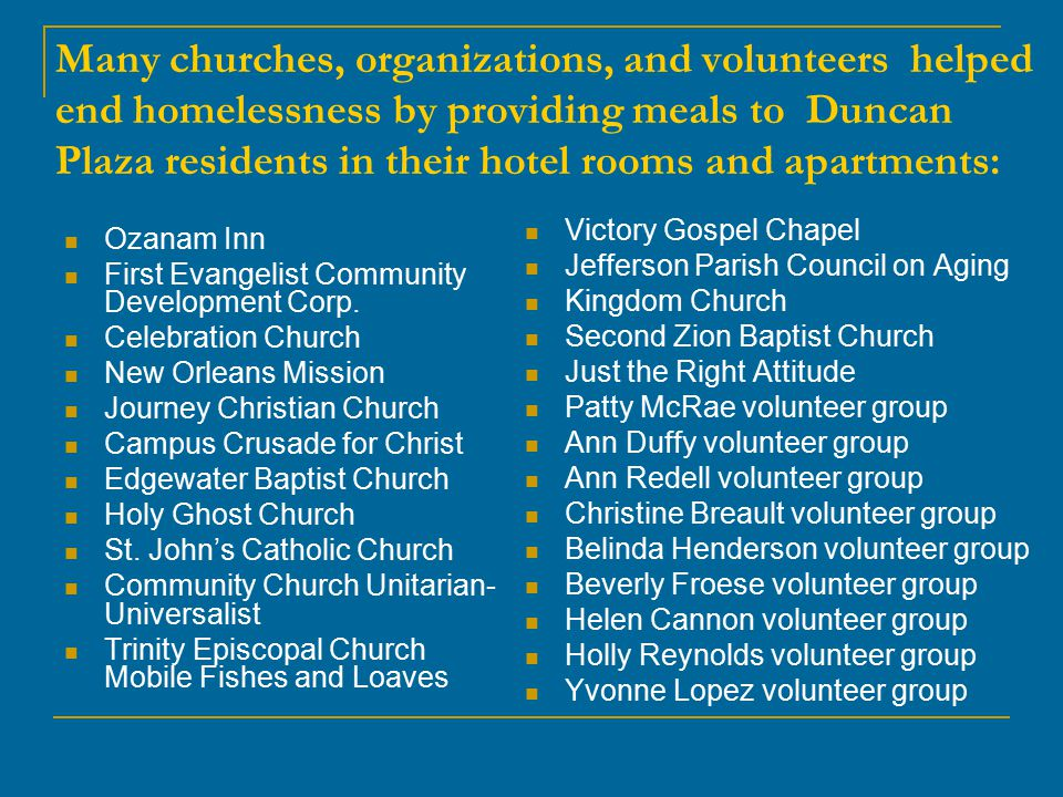 Donations Needed Tables and Chairs Unused Mattresses and Box springs Bed Linens Bath Towels Hygiene Supplies Cleaning supplies Bed Frames Lamps Small Household Appliances Other Kitchen Appliances (refrigerators, stoves, microwaves) Kitchen utensils  Dishes  Glassware  Pots  Pans Televisions and Radios