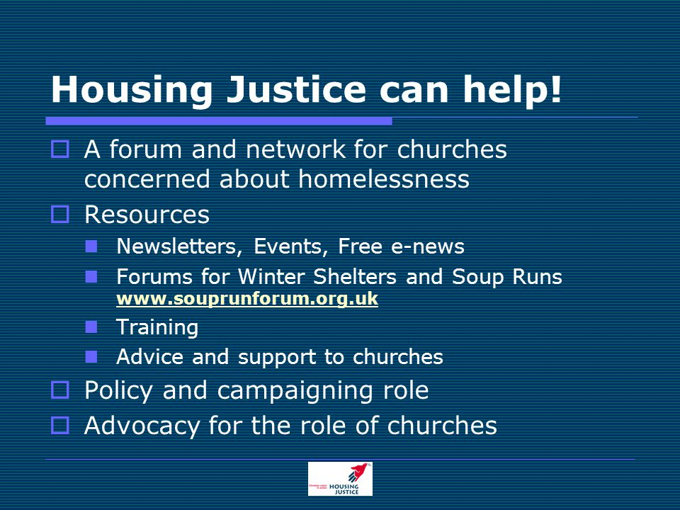 Housing Justice can help.