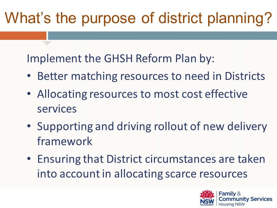 Who is leading district planning.