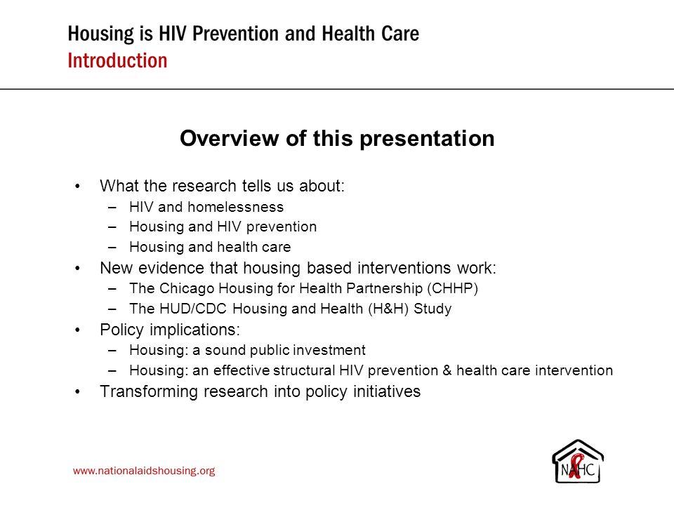 www.nationalaidshousing.org Housing Interventions Work