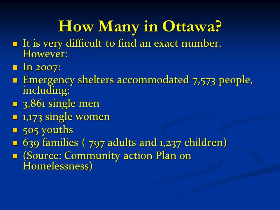 How Many in Ottawa.
