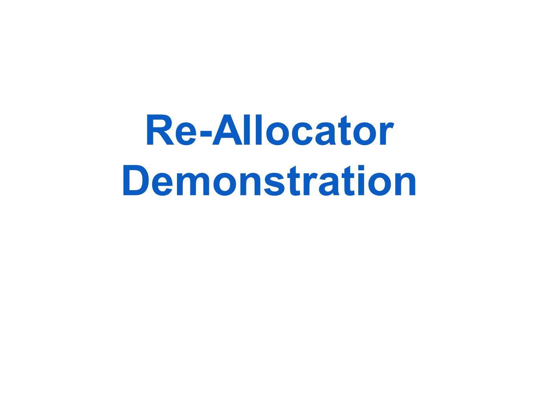 Re-Allocator Demonstration