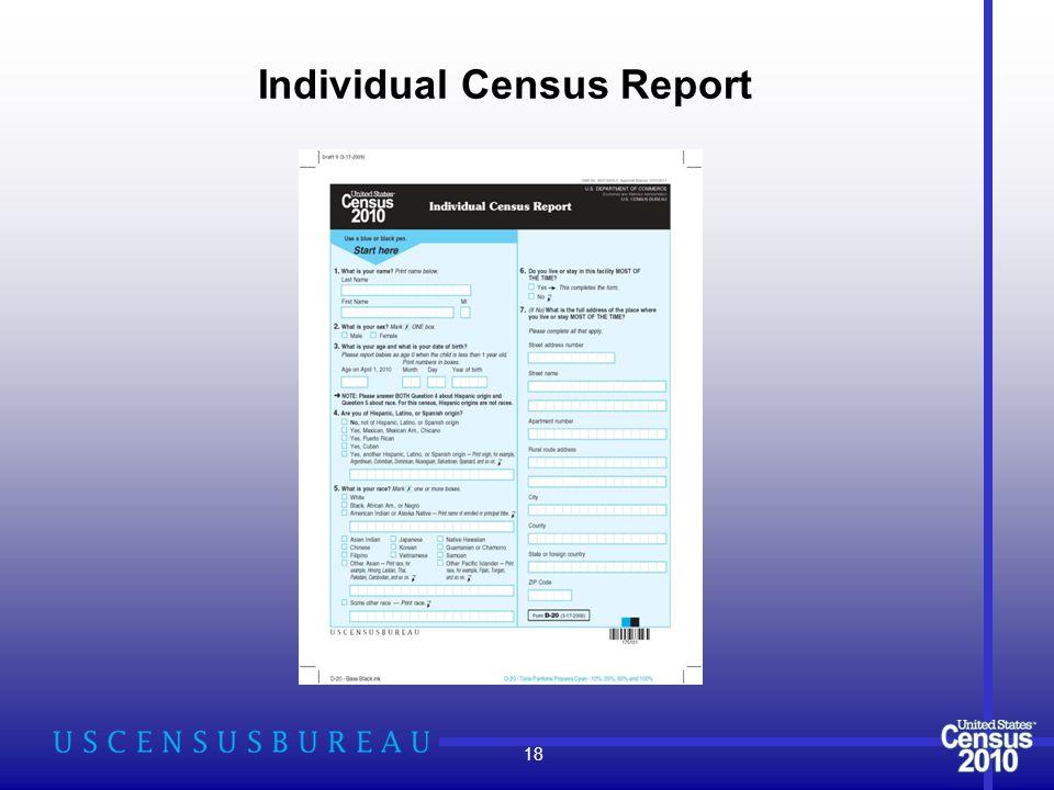Individual Census Report 18
