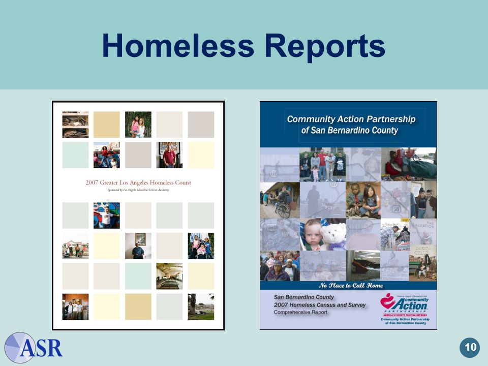 Homeless Reports 10 Homeless Reports