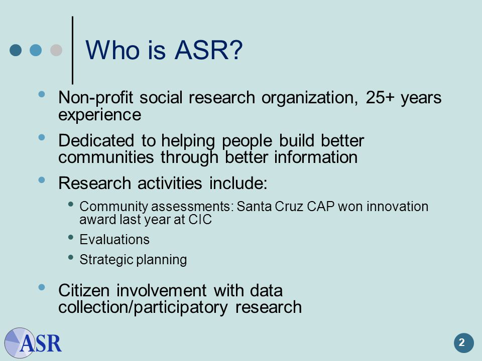2 Who is ASR.