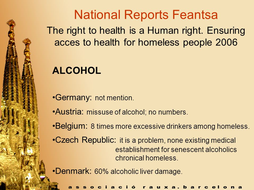 National Reports Feantsa The right to health is a Human right.