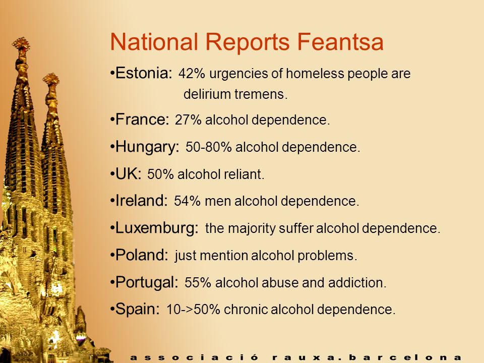 punctual long-term specialized responses for Homelessness is a health-social emergency that needs punctual and long-term specialized responses for alcohol dependent, drug dependent and mentally ill