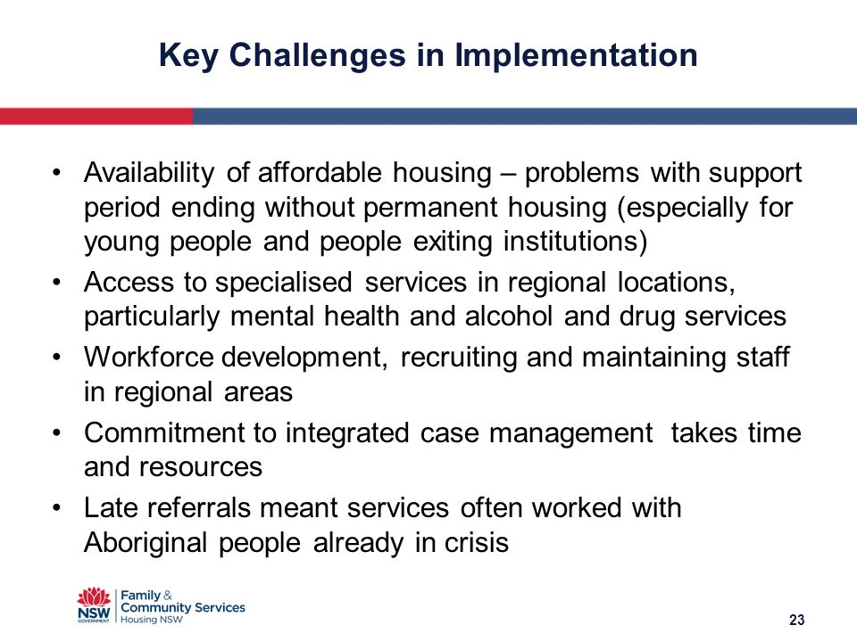 Availability of affordable housing – problems with support period ending without permanent housing (especially for young people and people exiting ins