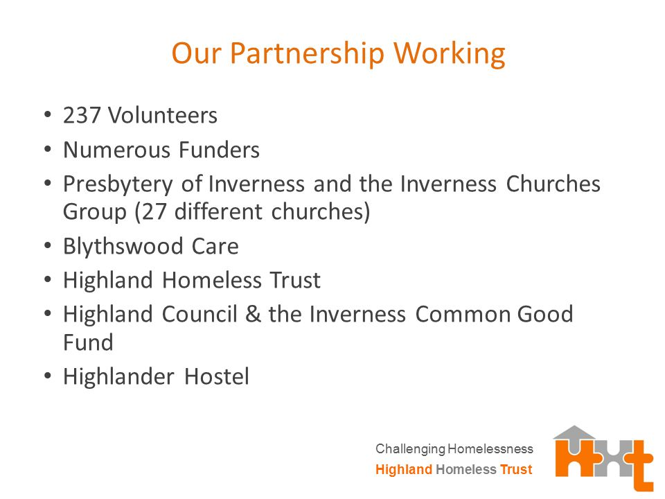 Recent Changes Highland Homeless Trust Challenging Homelessness