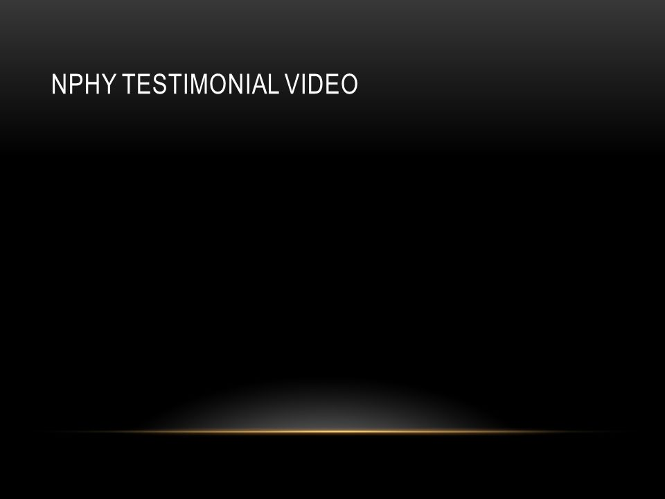 NPHY TESTIMONIAL VIDEO
