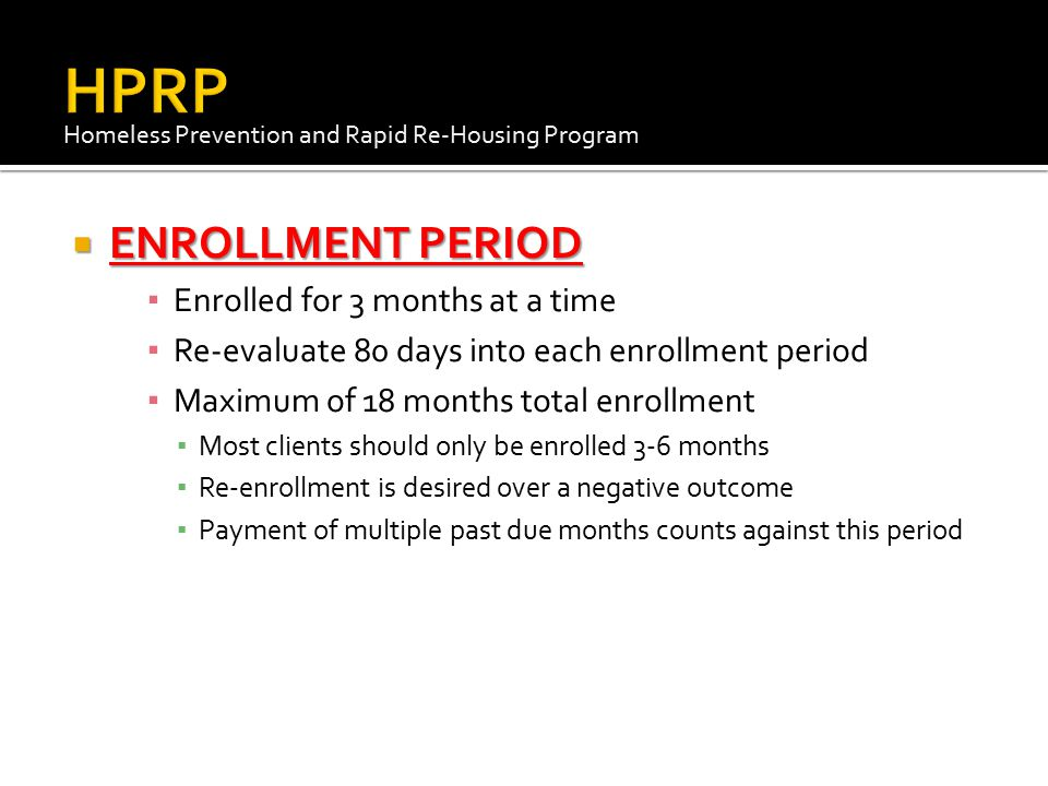 THE HOUSEHOLD CAN BE ENROLLED IN A DIFFERENT PROGRAM DURING RECERTIFICATION IF THEIR SITUATION HAS CHANGED.