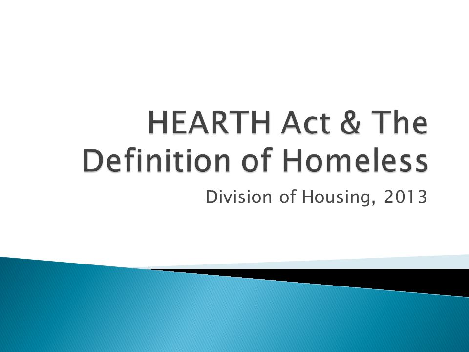 CONDITIONS: 1.Meet homeless definition under another federal statute 2.No lease, ownership interest, occupancy agreement in permanent housing during preceding 60 days 3.Persistent instability – two or more moves in preceding 60 days 4.Expected to continue instability for an extended period of time because of special needs or barriers