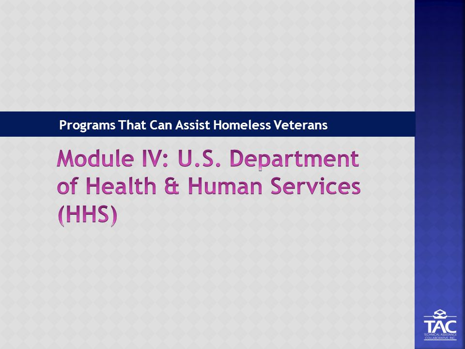 Programs That Can Assist Homeless Veterans