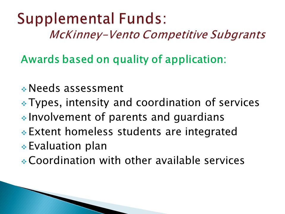  Spring 2015 - 6 week grant writing period  Two-year Subgrants: for individual school districts and Consortia of multiple districts  Each Consortium must have one fiscal agent: a district or an Education Service District (ESD)  Approx.