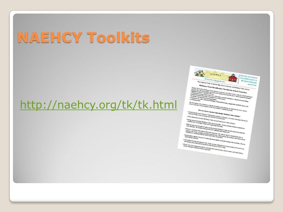 NAEHCY Toolkits http://naehcy.org/tk/tk.html