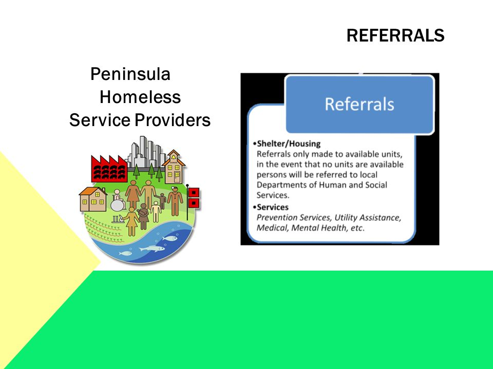 Peninsula Homeless Service Providers REFERRALS