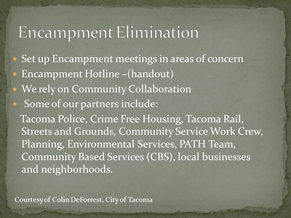 Crime Prevention Through Environmental Design is composed of four basic elements Natural Surveillance Access Control Territoriality Activity Support Courtesy of Kelly Crouch, City of Tacoma
