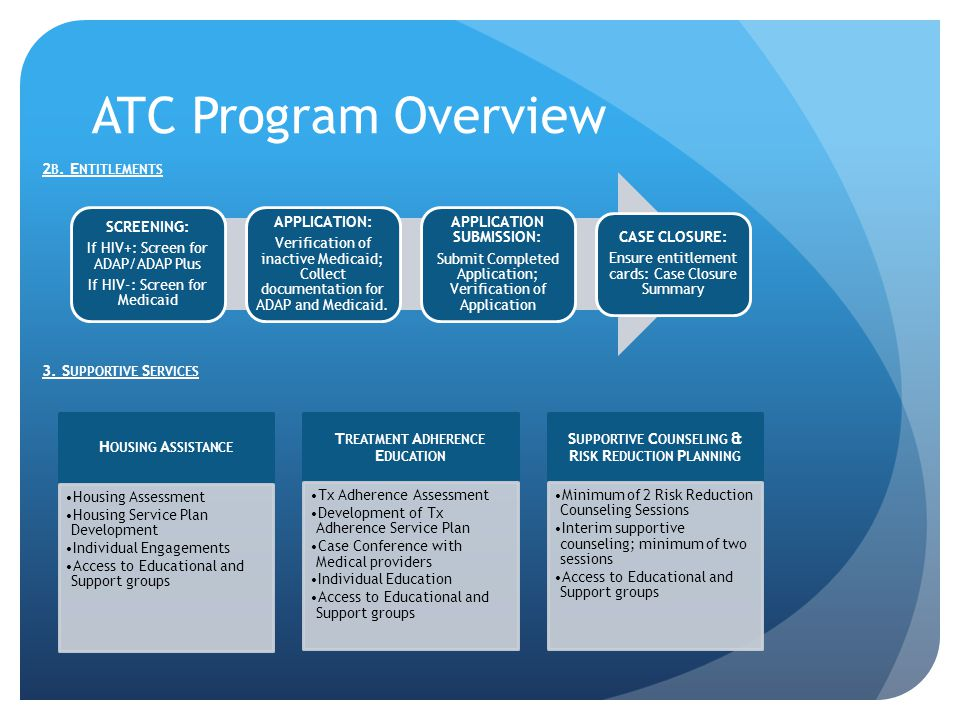 ATC Program Overview 2 B. E NTITLEMENTS 3.